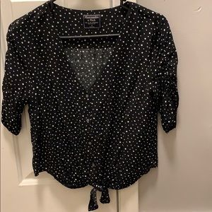 Black blouse with Star pattern